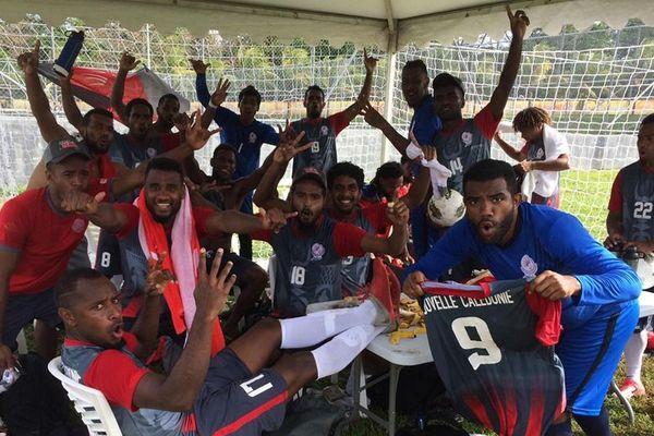 2e match, 2e succès pour les Cagous dans le tournoi de football masculin.