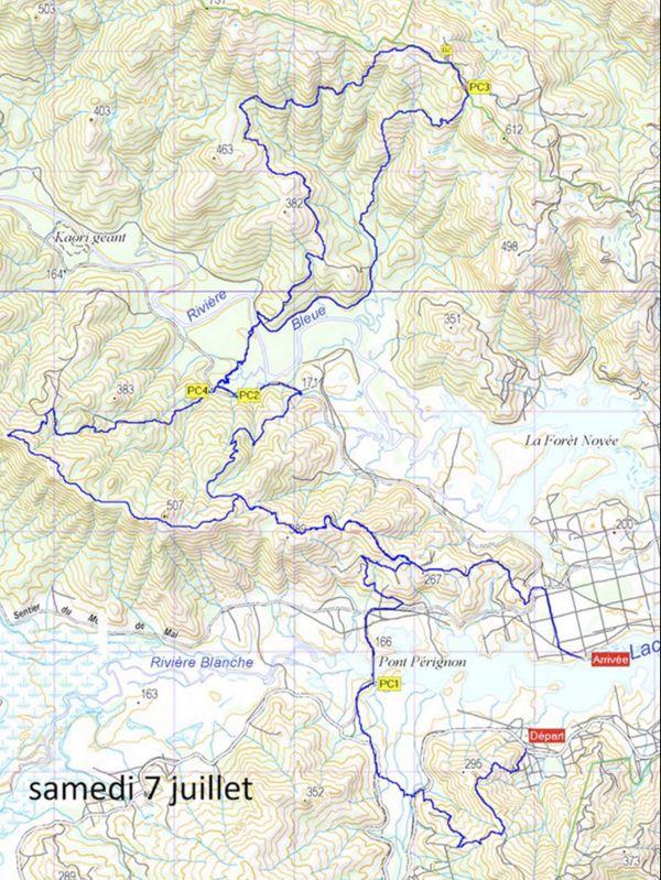 Transcal 2018 : parcours des 32km - 1ere journée