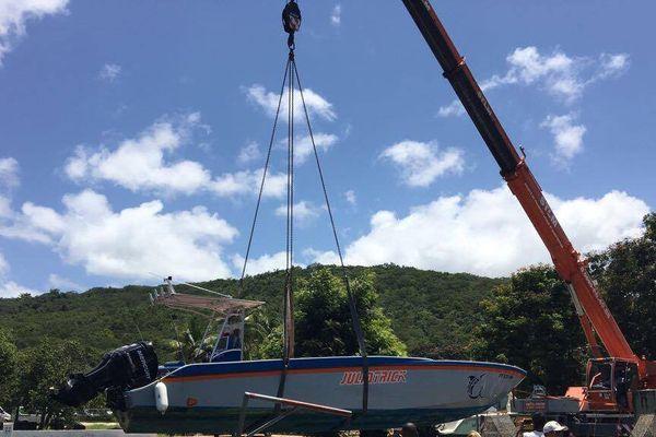 les bateaux mis à l'abris avant Irma