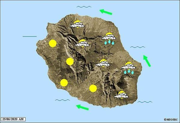 Carte météo 25 juin 2020