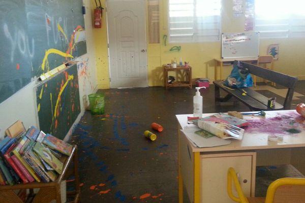 Ecole vandalisée Marigot