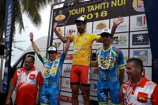 Podium contre-la-montre Tour de Tahiti Nui
