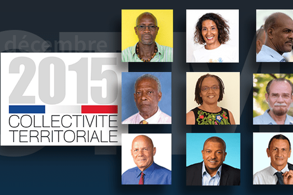 Les têtes de liste de la Collectivité Territoriale de Martinique
