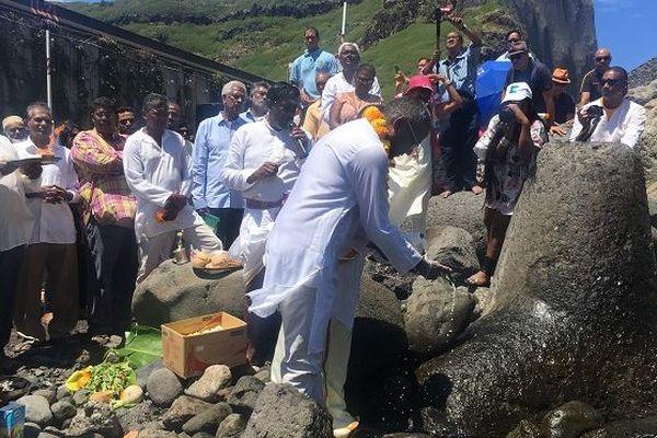 Au Lazaret, un hommage rendu aux ancêtres engagées de La Réunion.