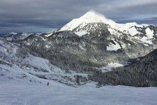 Alpes ski station neige