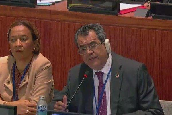 Edouard Fritch devant la 4ème commission de l'ONU