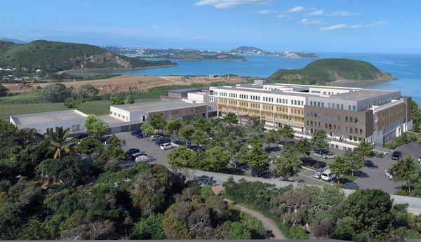 Vue d'architecte de la clinique île Nou Magnin 2017