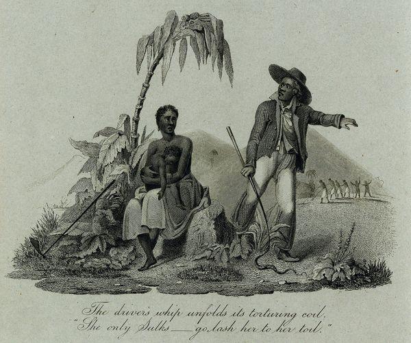 Femme esclave avec enfant et contre-maître