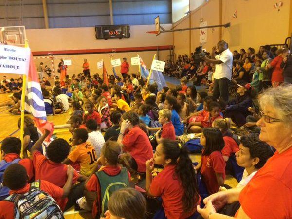 Jeu des écoles 2017 fête du sport Mont-Dore 14 juillet salle omnisports Boulari Sérandour