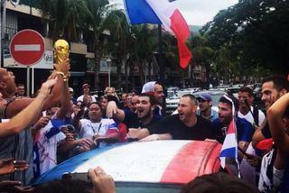 Les Polynésiens lors de la Coupe du Monde 2018