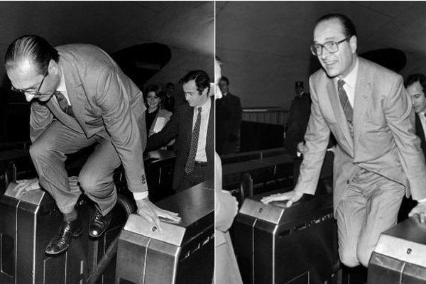 Pris en 1980 à la station de métro Auber à Paris, ce cliché de Jacques Chirac est devenu historique.
