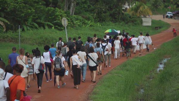 Manifestation à Maripa-Soula