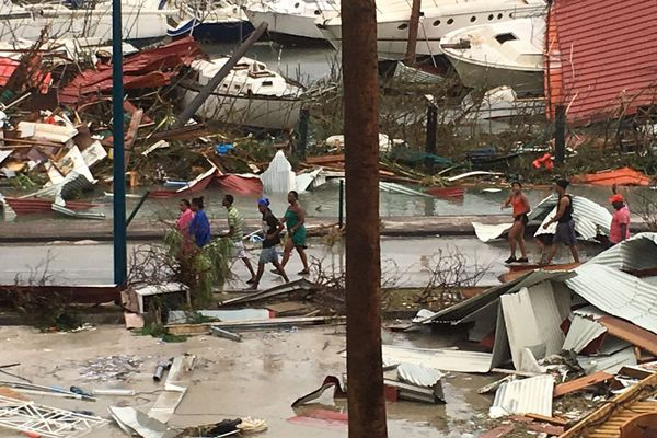 Population Marigot après Irma