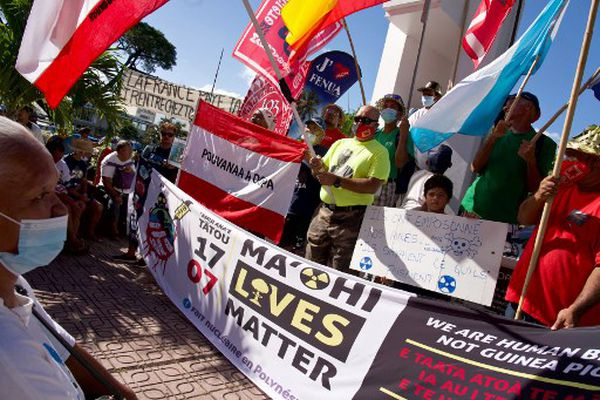 Manifestation Ma'ohi Lives matter le 18 juillet 2021 à Papeete