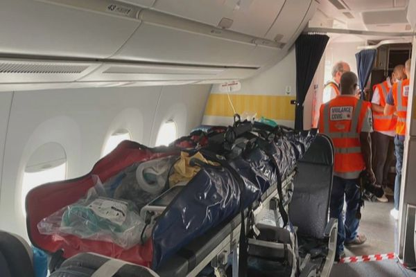Transfert des patients covidés vers la métropole
