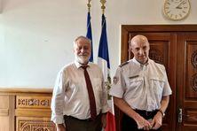 Jean-François Colombet et Laurent Simonin lors de leur entretien à la préfecture