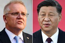 Le Premier ministre australien Scott Morrison et le Président chinois Xi Jinping