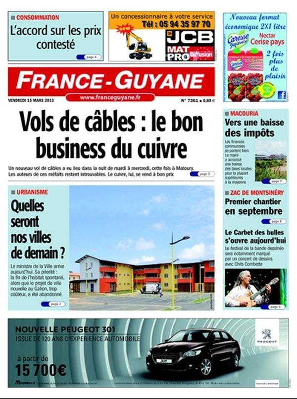 France-Antilles Guyane du 15 mars 2013