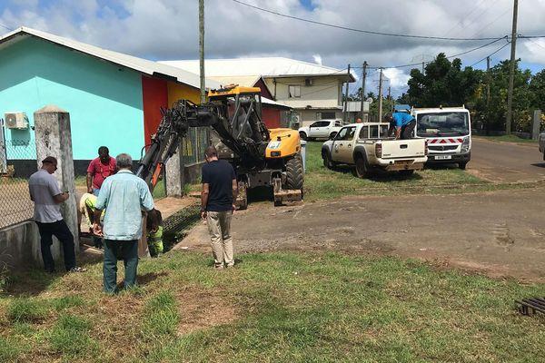 Le blocage du point d'évacuation des eaux de pluie près du carrefour de Mata'utu a été levé ce matin