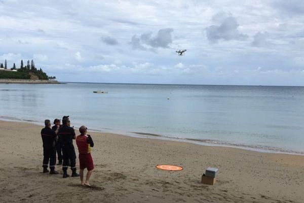 Baie des citrons : la police nationale avec un drone pour observer le squale