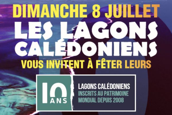 Affiche anniversaire 10 ans d'inscription du lagon à l'UNESCO