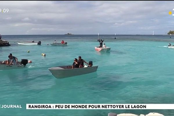 Rangiroa : Un nettoyage du lagon pas très populaire
