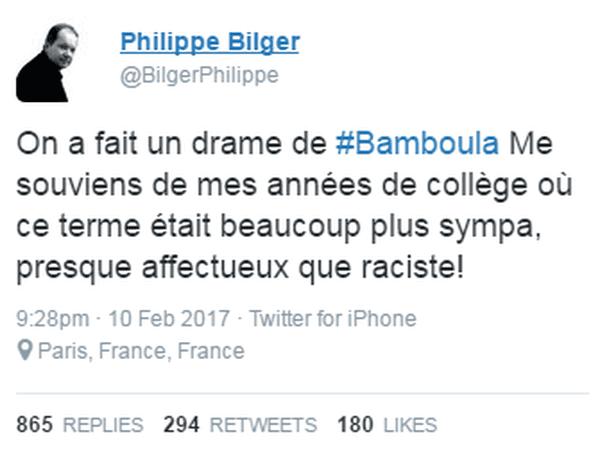 Tweet Bilger Bamboula