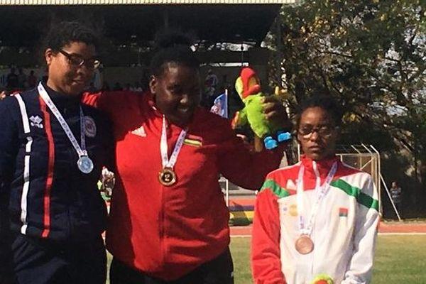 JIOI 2019 Athlétisme médaille d'argent pour Margareth Gustave au lancer de poids en sport adapté 230719
