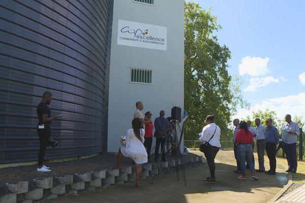 inauguration nouvelles unités de production d'eau sur Cap Excellence