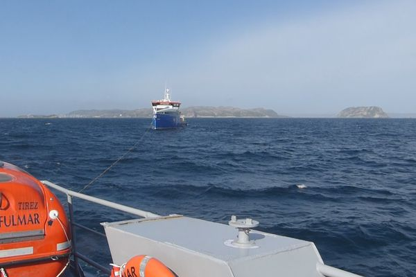 exercice remorquage ferry fulmar