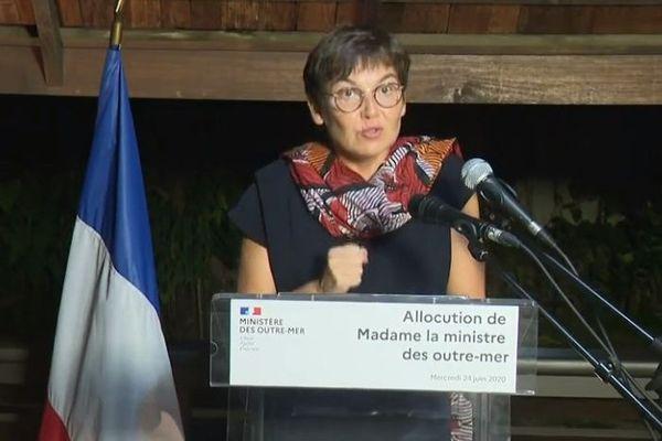Annick Girardin 24 juin à Cayenne