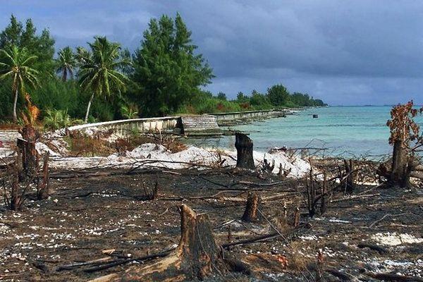 ancienne zone atoll polynésie