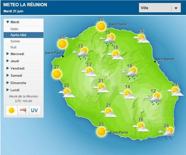 Carte météo AM 21 06 2016