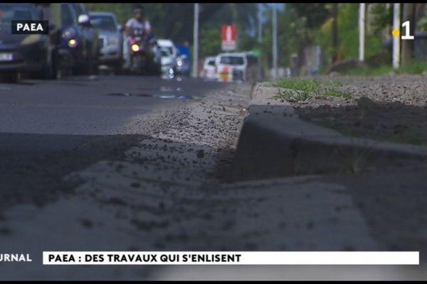 Le chantier de la route de Paea n'avance pas