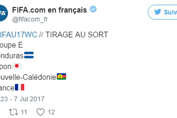 tweet tirage au sort U17 NC France