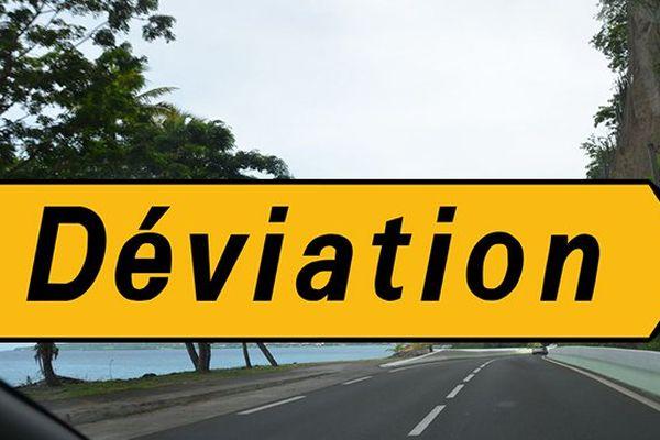 déviation route