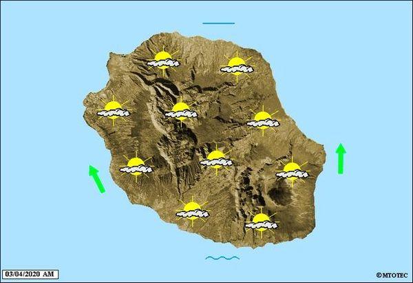 Carte météo 3 avril 2020