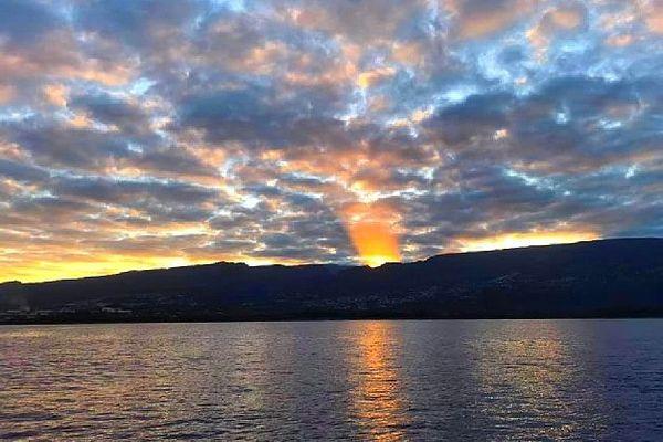 Lever de soleil sur l'Ouest de La Réunion 29 janvier 2020