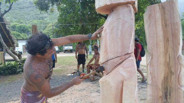 sculpteur Moai