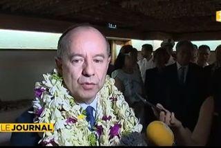 Jean Jacques Urvoas à son arrivée en Polynésie le 16 mars dernier