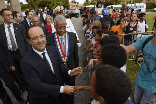 François Hollande à Rémire-Montjoly en décembre 2013.