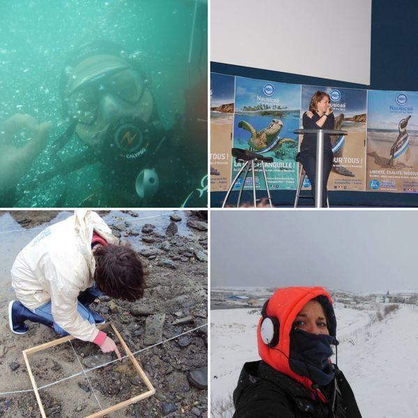 Biologiste marine, Julie a fait ses études à Nantes, La Rochelle avant de faire un stage et sa thèse en Islande