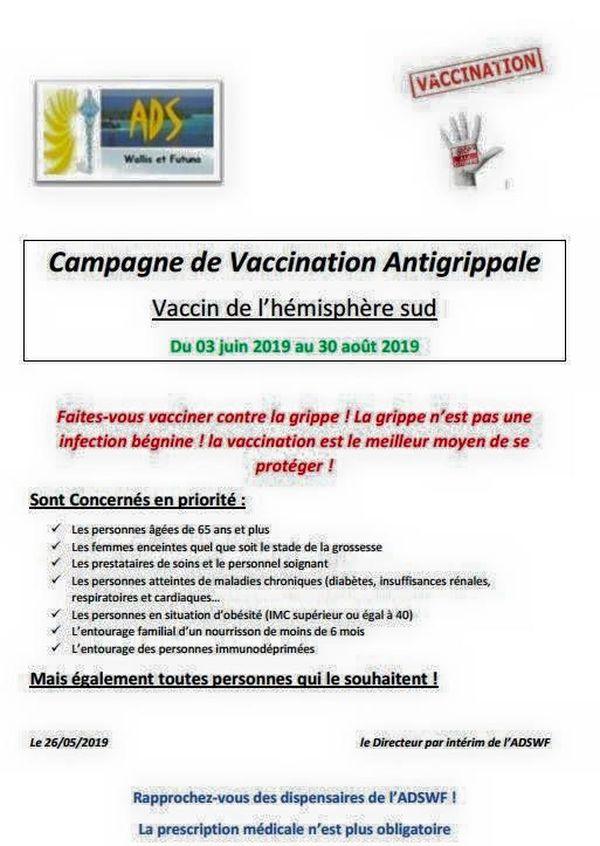 campagne anti grippale 2019