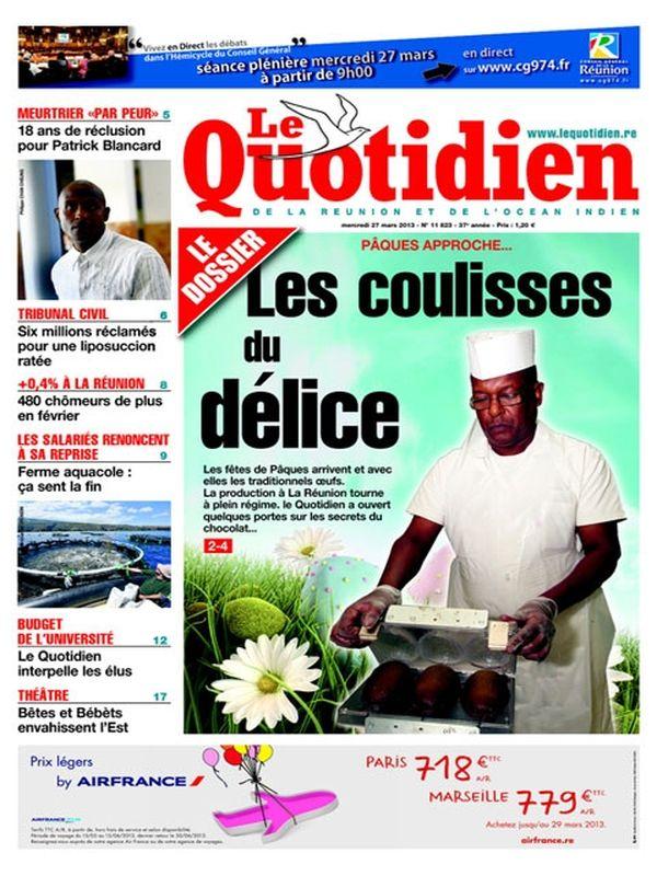Une Quotidien 27 mars