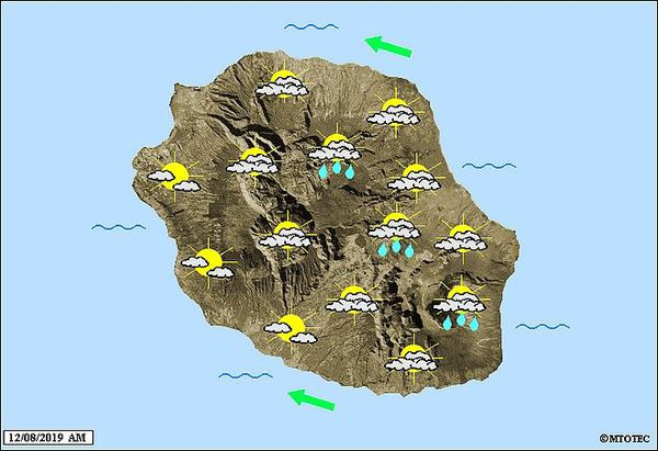 Carte météo 12 août 2019