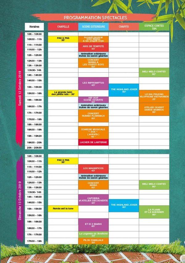 Programme du Pikinini festival 2019