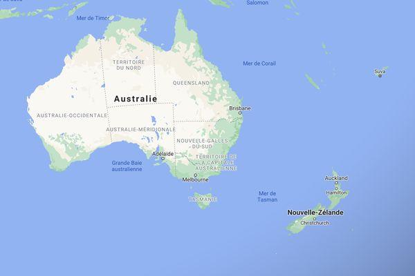 Carte Australie Nouvelle-Zélande Pacifique