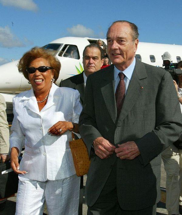 Avec Lucette Michaux-Chevry 2002