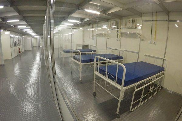 Unité d'accueil des malades du Covid-19 à Macapa
