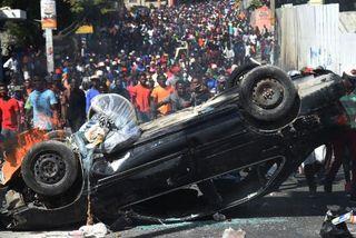 Scènes chaotiques en Haïti